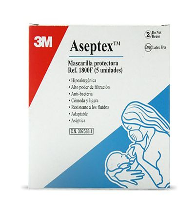 Mascarilla Aseptex 5 unidades