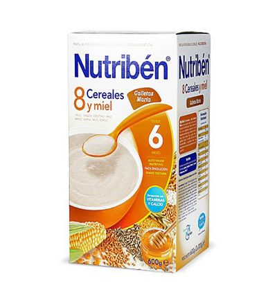 NUTRIBEN 8 CER MIEL GALLETAS MARIA 600
