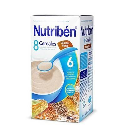 Nutriben 8 cereales galletas María 600 g