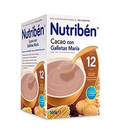 Nutriben cacao con galletas María 500 g