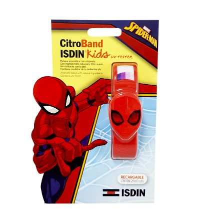 Citroband isdin Kids Spiderman + UV tester 2 recarga