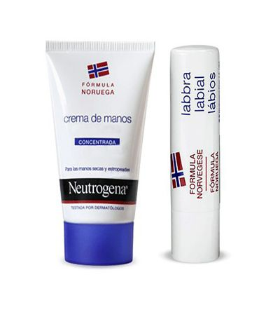 Neutrogena crema de manos concentrada y stick labial SPF 20