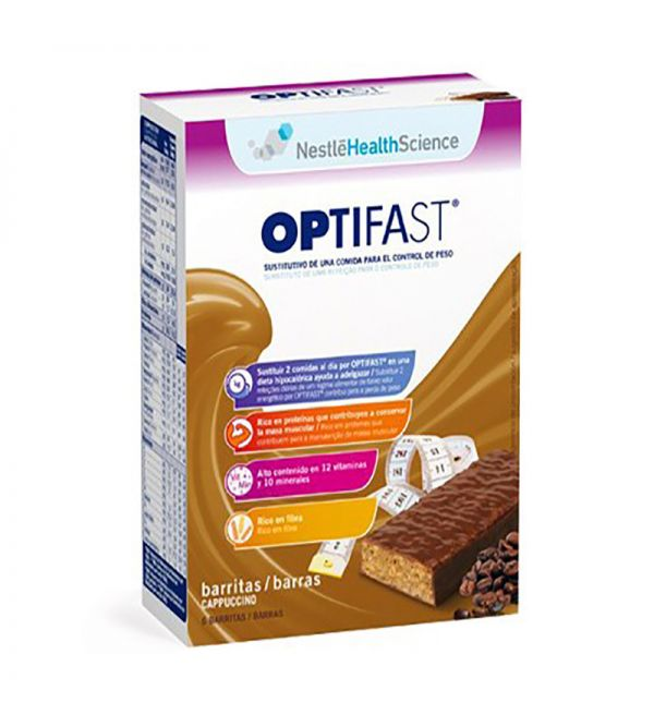 Optifast barritas cappuccino 6 uds