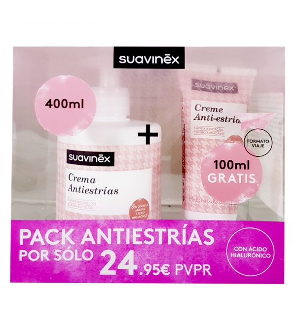 SUAVINEZ PACK ANTIESTRIAS 400+ TUBO 100ML