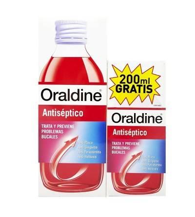 Oraldine antiséptico 400 ml + 200 ml