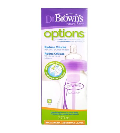 BIBERON 0 BPA BA DR BROWN´S NIVEL 1 MORADO 240 ML