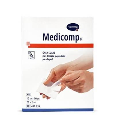 Medicomp gasas 10 x 10 25 x 2 unidades