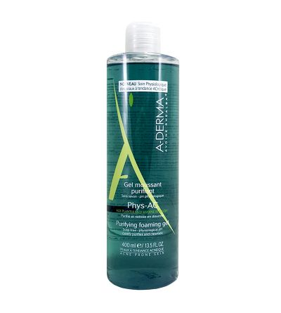 A-DERMA PHYS-AC GEL LIMPIADOR PURIFICANTE 400ML
