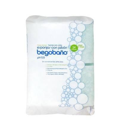 Esponja con jabón pH 5.5 Begobaño 24 unidades