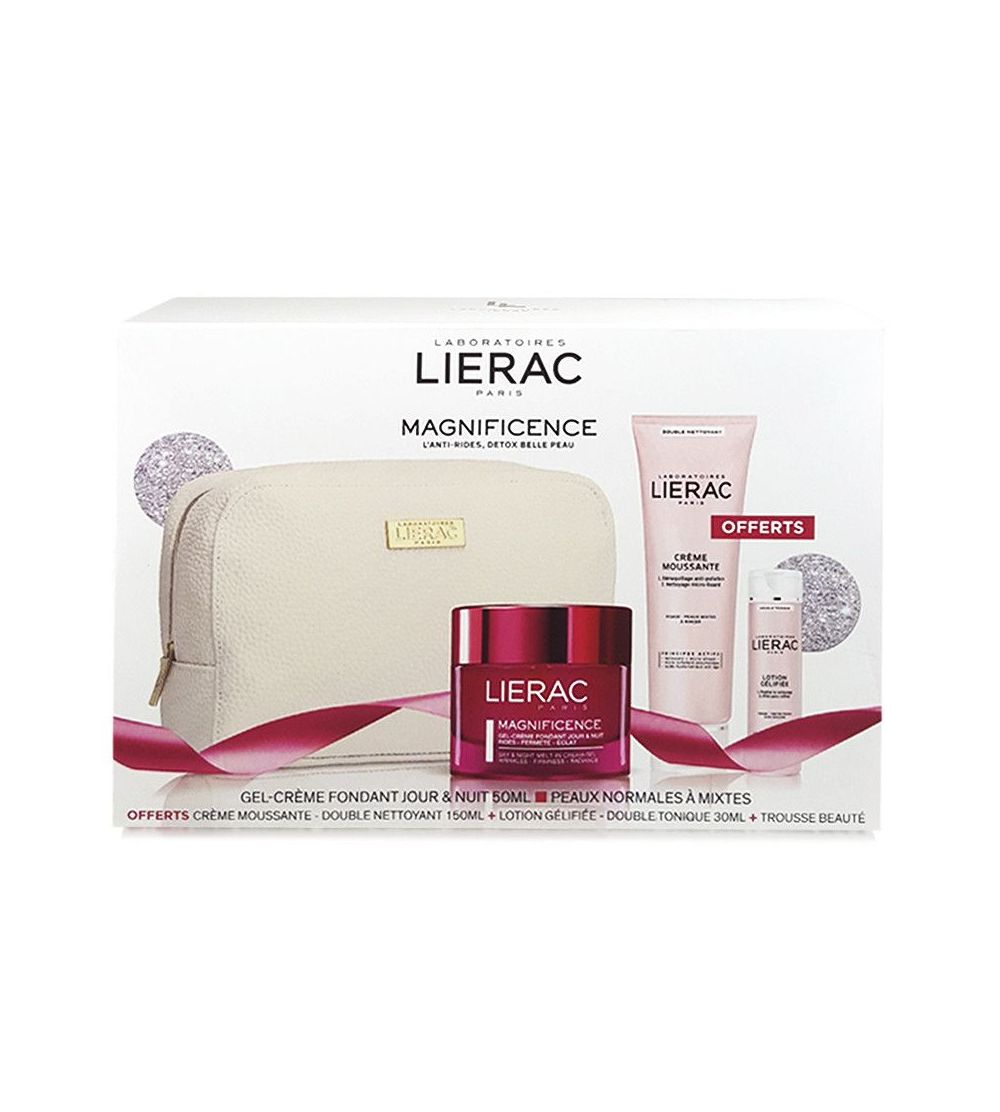 LIERAC COFRE MAGNIFICENCE GEL GREMA + CREME MOUSSANTE + LOTION GELIFEE