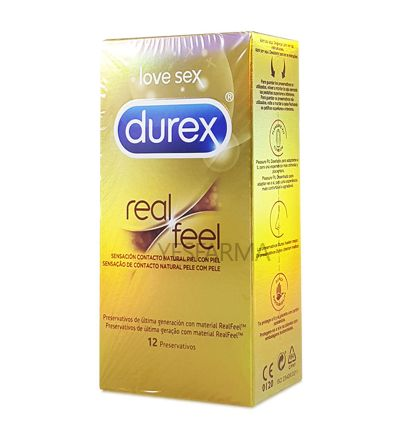 Durex Real Feel Sin Latex Easy-On preservativos 12 uds