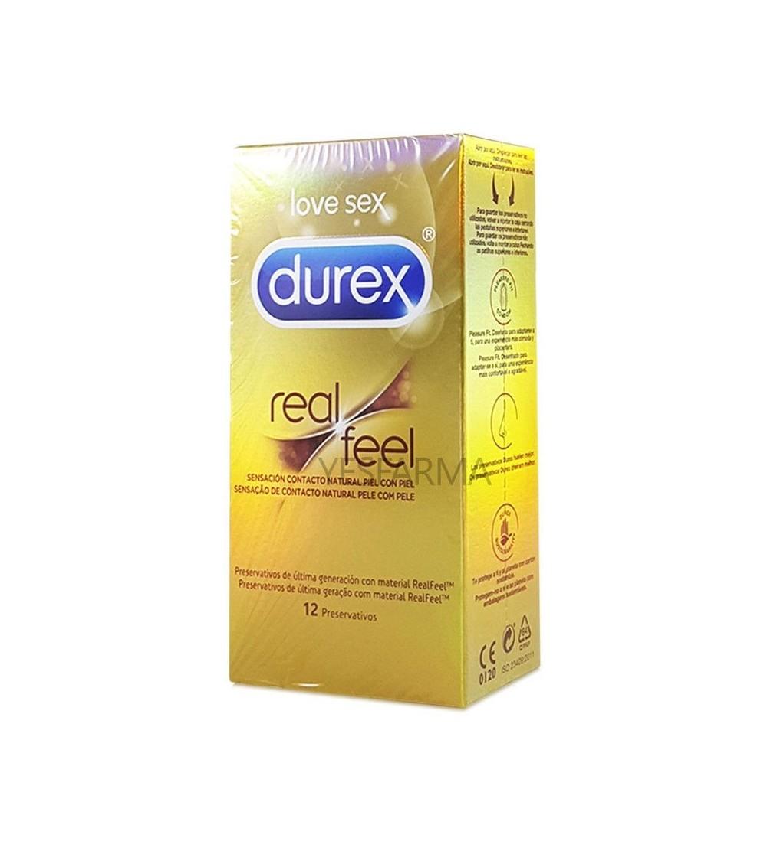 Durex Real Feel Sin Latex Easy-On preservativos 12 uds
