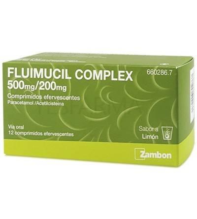 Fluimucil complex 500/ 200 mg 12 comprimidos efervescentes