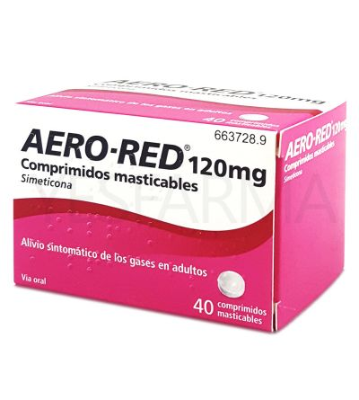AERO RED 120 MG 40 COMPR MASTIC