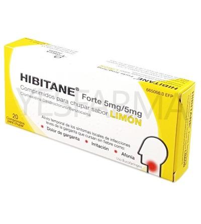 Hibitane Forte 20 comprimidos para chupar sabor limón