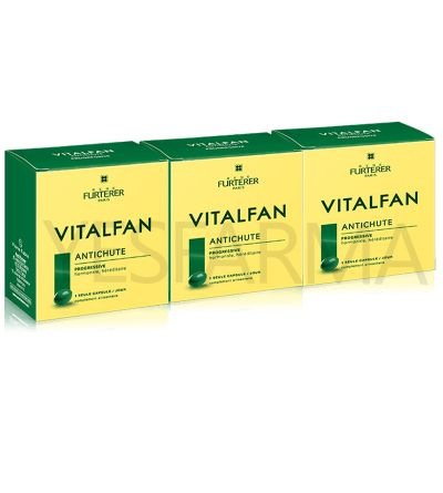 Rene Furterer Vitalfan anticaída progresiva pack trío 90 cápulas