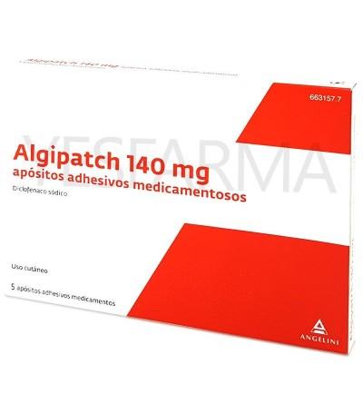 ALGIPATCH 140 MG 5 APOSITOS ADHESIVOS (1 PARCHE/12H)