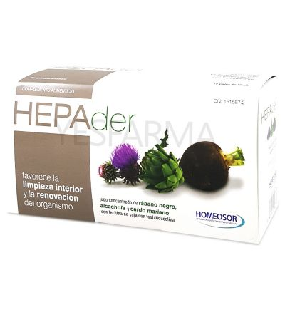 HOMEOSOR HEPADER 10 ML 14 VIALES