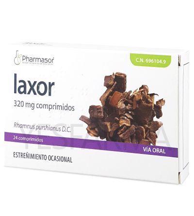 LAXOR 320 MG 24 COMPRESSAS Pharmasor