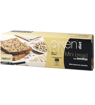 SIKEN DIET Mini BREAD con semillas 8 REBANADAS