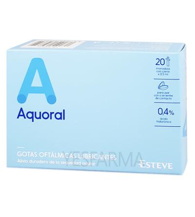 Aquoral gotas oftálmicas 0,5ml x 20 monodosis
