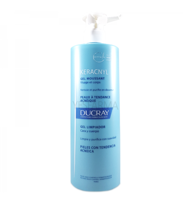 Ducray Keracnyl gel limpiador 400 ml