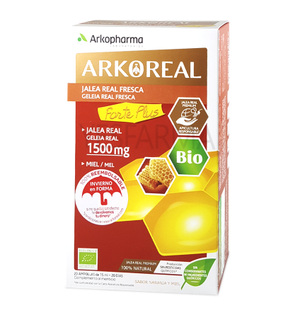 Arko jalea real forte 1500mg 20 ampollas