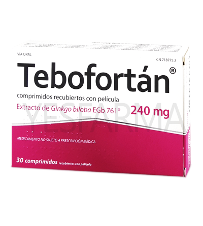 Comprar Tebofortan 240mg 30comp Ginkgo Biloba. Compre Tebofortan melhor preço Farmácia Yesfarma.