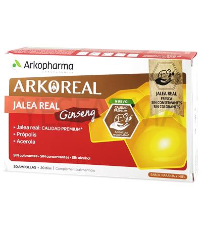 ArkoReal Jalea Real fresca con Ginseng 20 ampollas