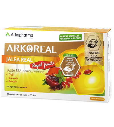 ARKOREAL JALEA REAL ROYAL FRUITS 20 AMPOLLAS