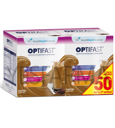 OPTIFAST BATIDO CAFÉ DUPLO -50% 2ºud