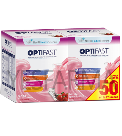 OPTIFAST BATIDO FRESA DUPLO -50% 2ºud