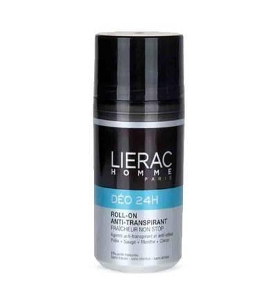 O desodorante Lierac Deodorant 24h Homme protege o odor das axilas dos homens com produtos naturais.