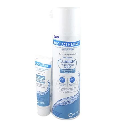 Buccotherm Spray Dental con gel encías sensibles 200ml + 25ml