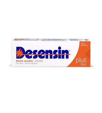 Desensin plus pasta 125ml es una pasta de dientes para tratar los dientes sensibles y la sensibilidad dental.