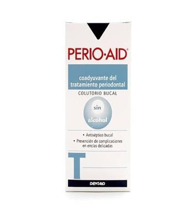 Perio Aid tratamiento colutorio es un enjuague bucal antiséptico para tratamientos y gingivitis.
