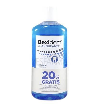 Bexident blanqueante colutorio 500ml es un enjuague bucal para blanquear los dientes (blanqueamiento dental)