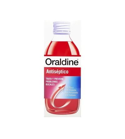 Oraldine antiséptico colutorio es un enjuague bucal para tratar caries, bacterias y sarro.