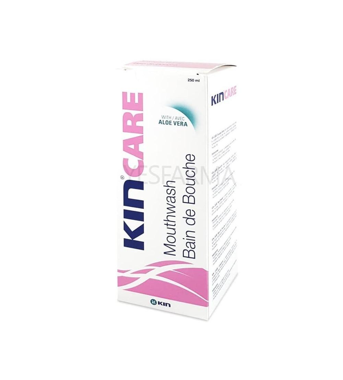 Kin Care enjuague bucal 250ml es un colutorio de uso diario para eliminar placa bacteriana, sarro y caries.