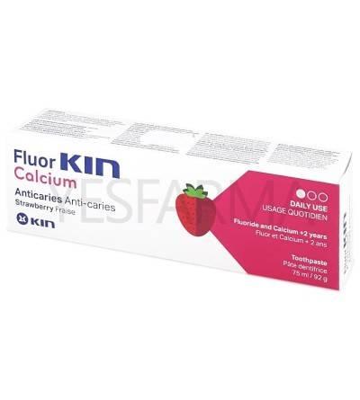 Fluor Kin calcio pasta dentífrica 75 ml