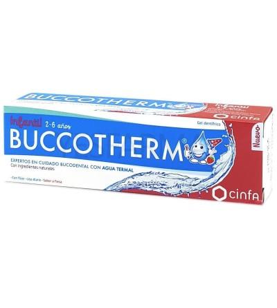 Buccotherm infantil gel dentífrico 2-6 años 50 ml es una pasta de dientes infantil, anti caries, con flúor.