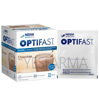 Optifast batidos chocolate 12 sobres de 53g