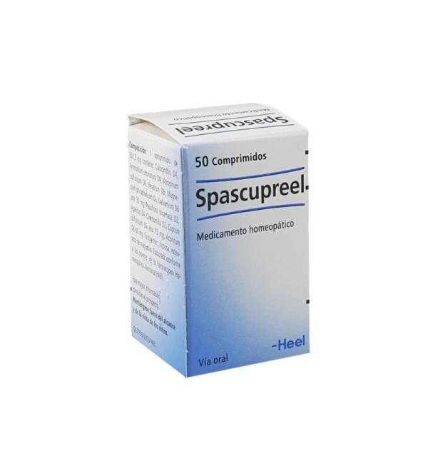 Comprar Heel Spascupreel 50 comprimidos es un relajante mucular homeopático para contracturas musculares.