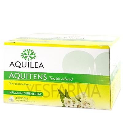 Aquilea Aquitens Infusión 20 Bolsas é um produto natural para pressão arterial e hipertensão. Compre Aquitens em Yesfarma