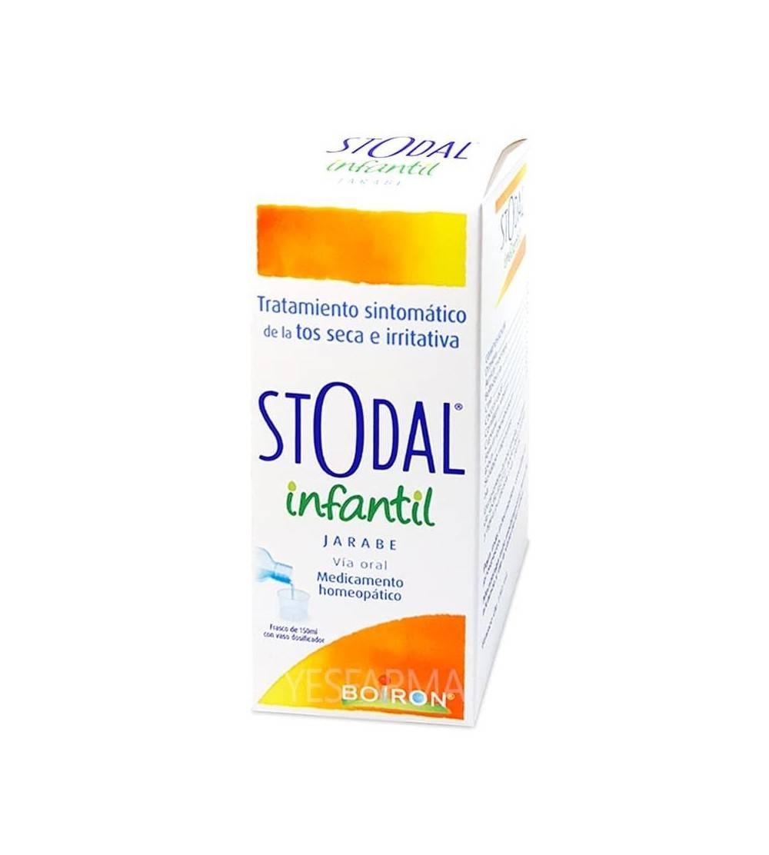 Stodal infantil jarabe 150ml Boiron para calmar la tos seca de niños. Mejor precio Yesfarma. Envíos 24h.
