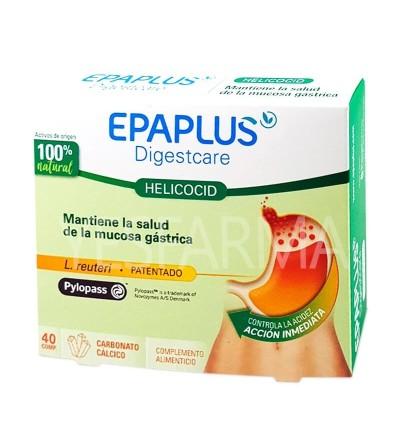 Helicocid Epaplus Digestcare 40 comprimidos es un producto natural para acidez, reflujo y molestias de Helicobacter pylori.