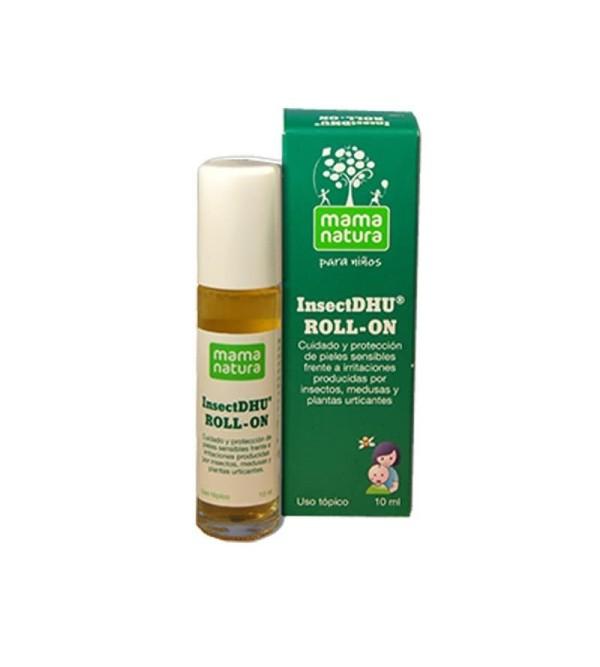 Comprar insectdhu roll on Mama Natura para picaduras de insectos y alergias en la piel de bebés y niños. Yesfarma.