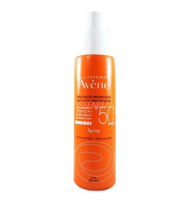 Comprar Avène spray 50+ protector solar 200ml. Crema solar en spray Avène para pieles sensibles.