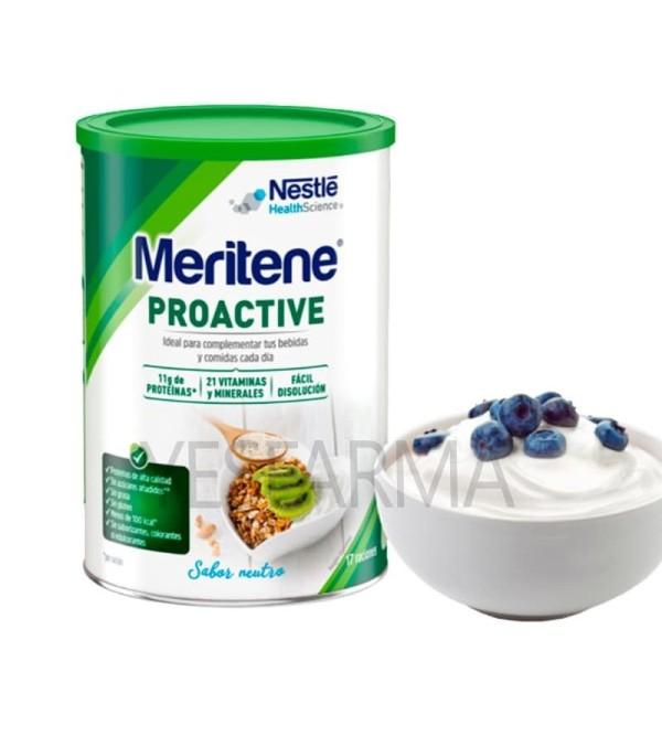 Comprar Meritene Proactive 408g como suplemento de vitaminas, proteínas y minerales. Comprar Meritene en Yesfarma.