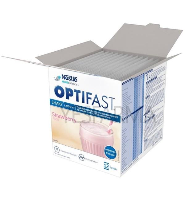 Comprar Optifast batidos de fresa 12 sobres. Optifast al mejor precio barato en Farmacia online Yesfarma.